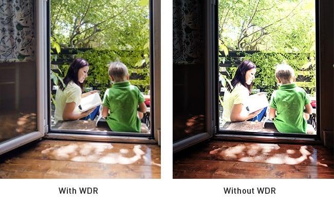 Hình ảnh thu được từ camera có WDR và không có WDR