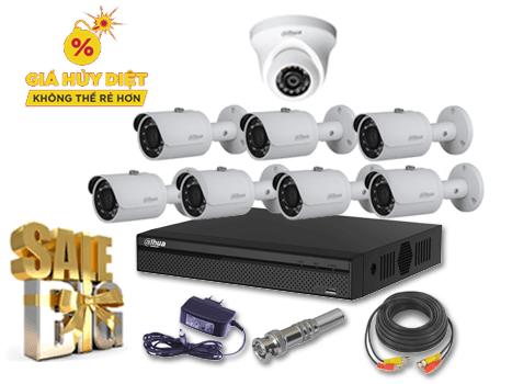 Bộ 8 Camera Hikvision chất lương Full HD 1080P