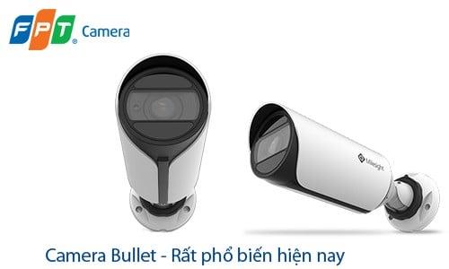Canera Bullet, một loại camera rất phổ biến hiện nay, được lắp đặt nhiều nhất