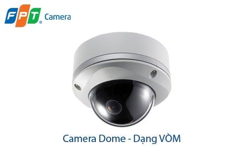 Camera an ninh dạng Vòm. Phổ biến và thông dụng với độ chống va đập cao