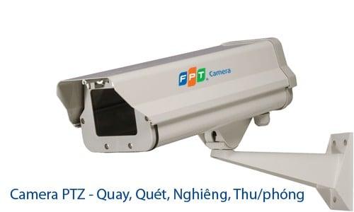 Camera PTZ của FPT có thể Quay, quét, nghiêng, thu phóng rất tốt