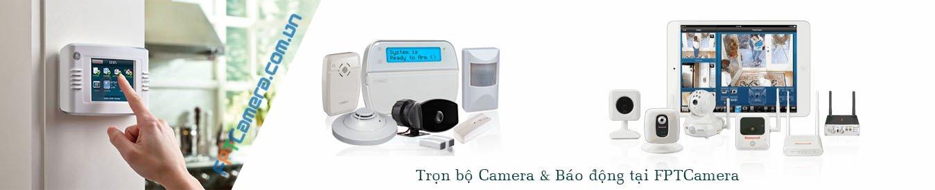 Trọn bộ camera quan sát kết hợp với báo động chống trộm tại FPTcamera