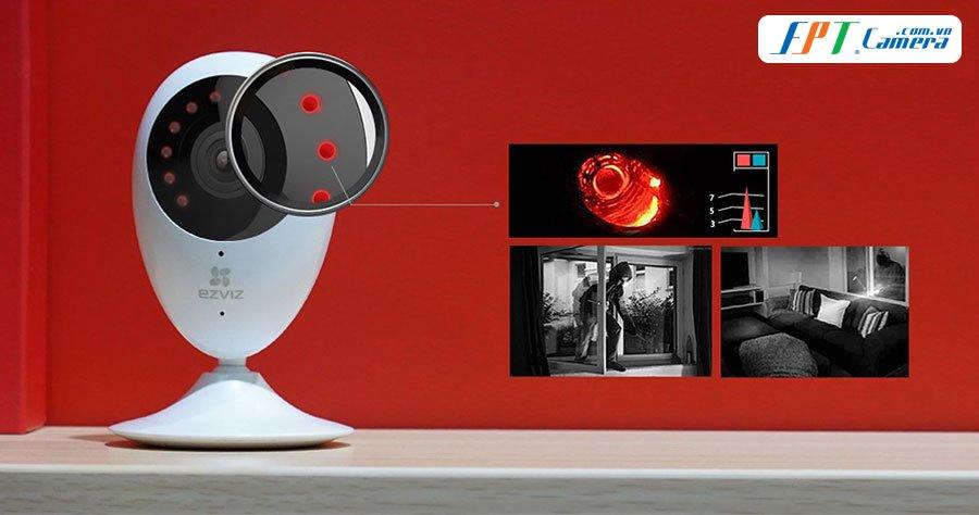 camera Wifi EZVIZ C2C Panoramic góc Siêu rộng 180 độ toàn cảnh