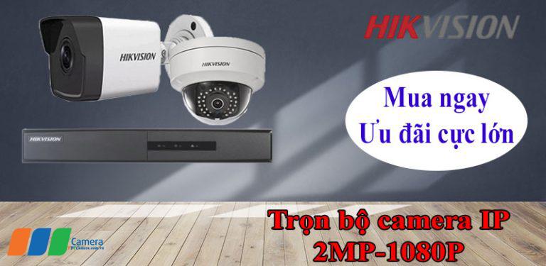 Trọn bộ camera IP Hikvision Full HD khuyến mãi lớn