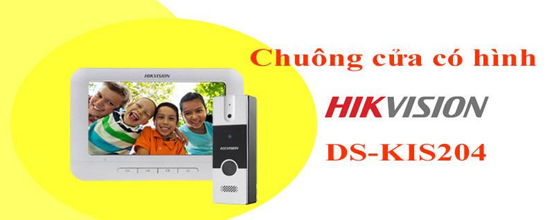 CHUÔNG CỬA CÓ HÌNH HIKVISION DS-KIS204