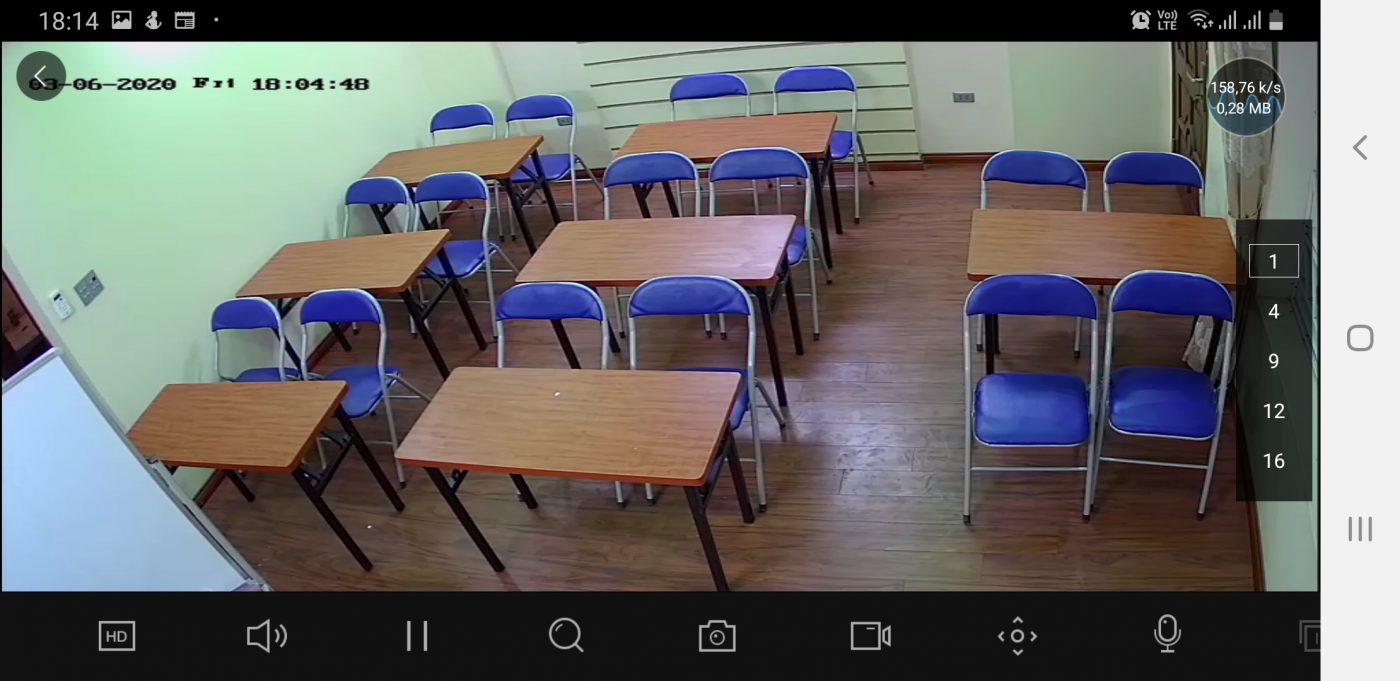 Hình ảnh thu được từ CameraIP 1MPlắp cho khách hàng