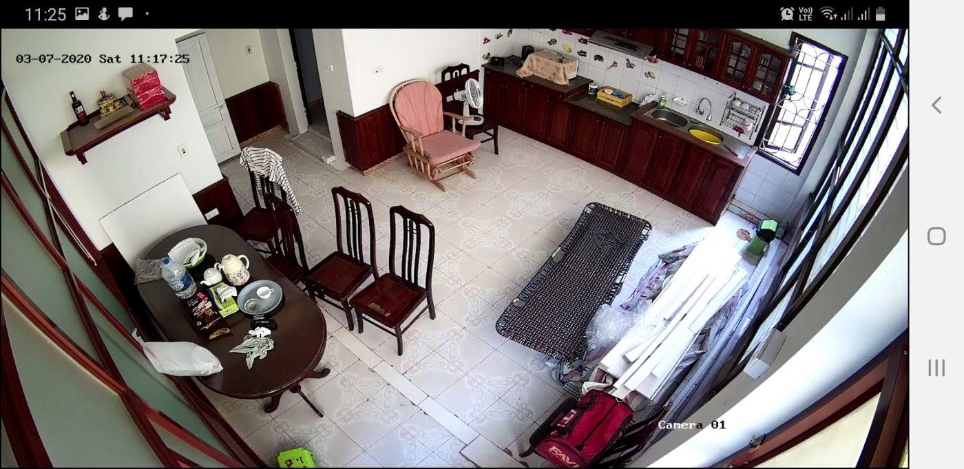 Hình ảnh thực tế thu được từ Camera Ip Hikvision Full HD