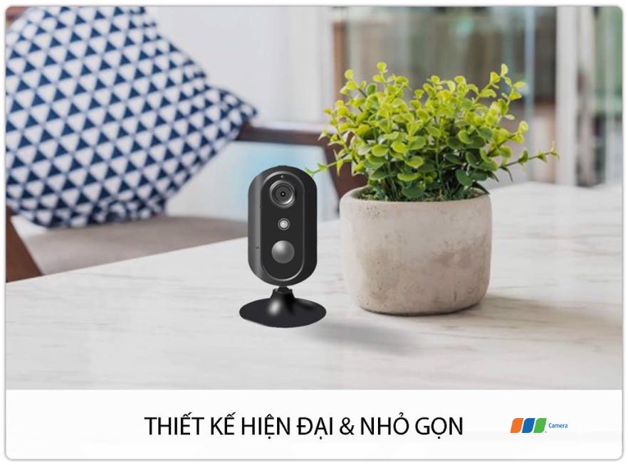 Camera 4G/Wifi SmartZ IS05-4G  có thiết kế nhỏ gọn, tiện dụng