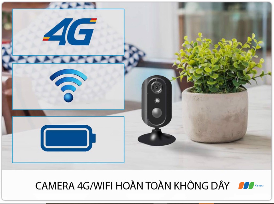 Camera 4G/Wifi SmartZ IS05-4G kết nối 4G và Wifi