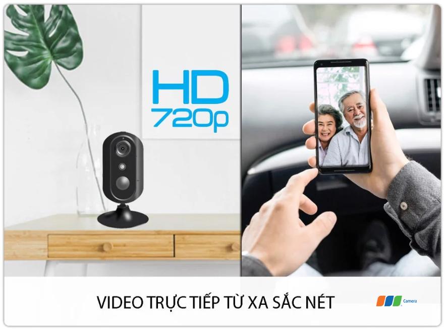 Camera 4G/Wifi SmartZ IS05-4G cho hình ảnh sắc nét HD