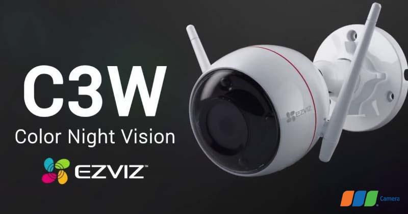 Camera anh ninh âm thanh 2 chiều Ezviz C3W Full Color, báo động chống trộm ngoài trời