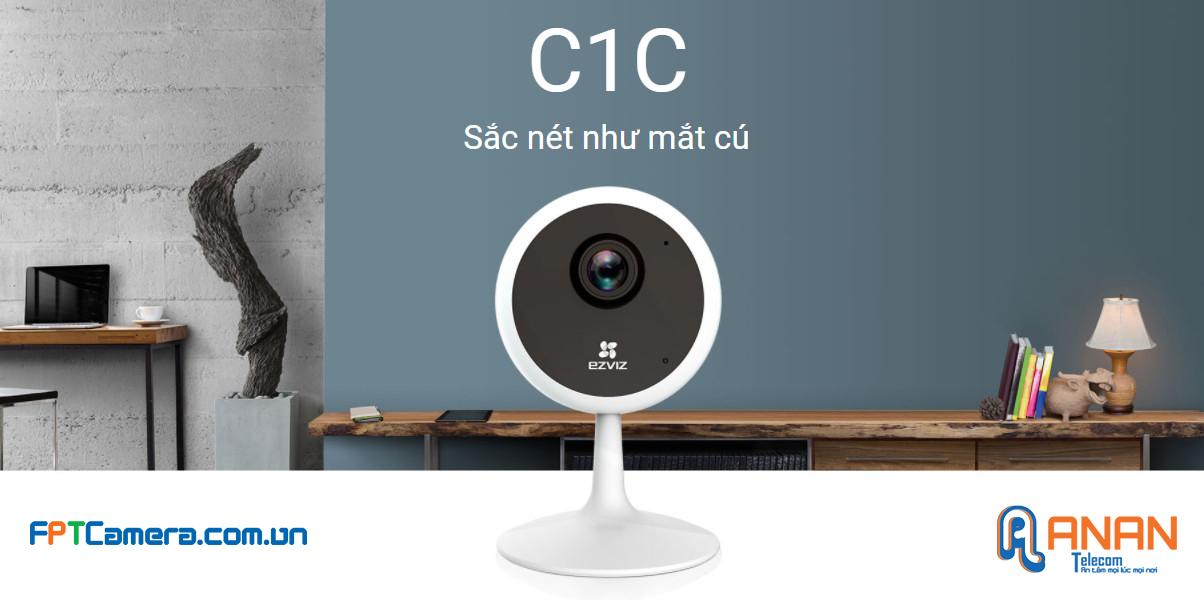 Camera EZVIZ C1C cho hình ảnh sắc nét, hình dáng nhìn giống như mắt Cú