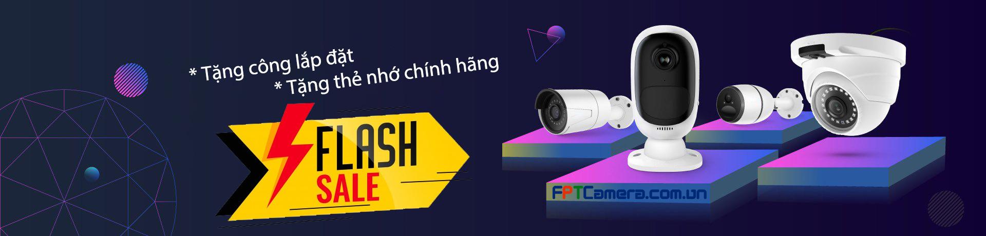Miễn phí công lắp đặt, tặng thẻ nhớ chính hãng khi lắp đặt Camera tại FPTC