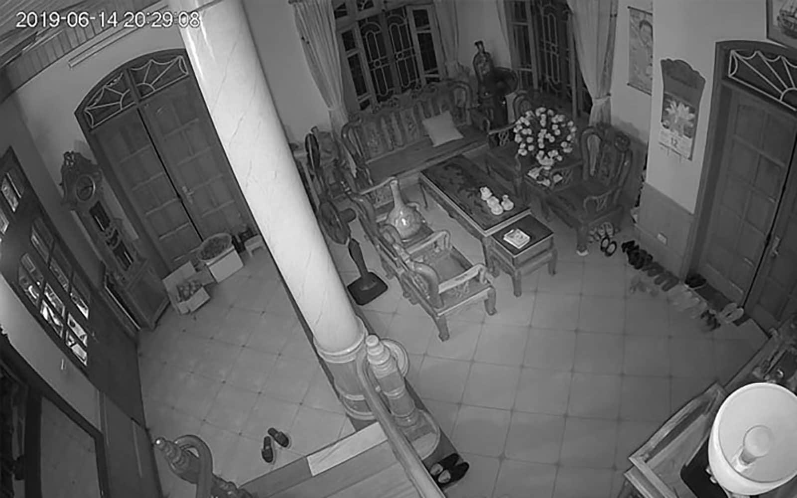 Hình ảnh quan sát ban đêm của Camera Hikvision Q21 khi tắt điện hoàn toàn